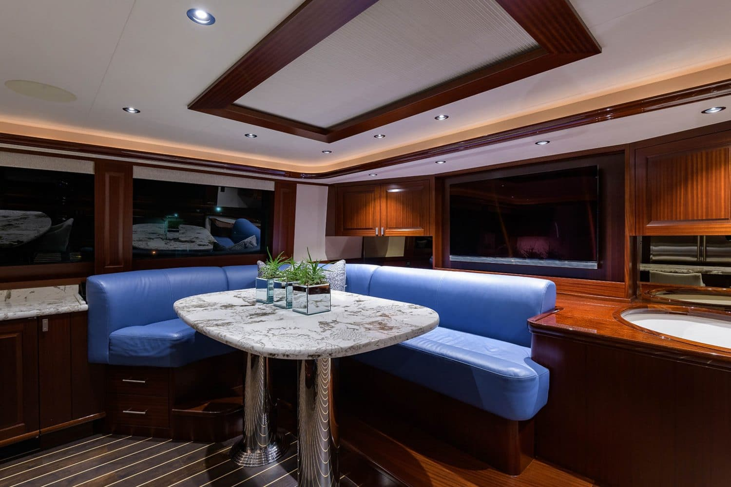 112' Westport Bluewater Cat Galley