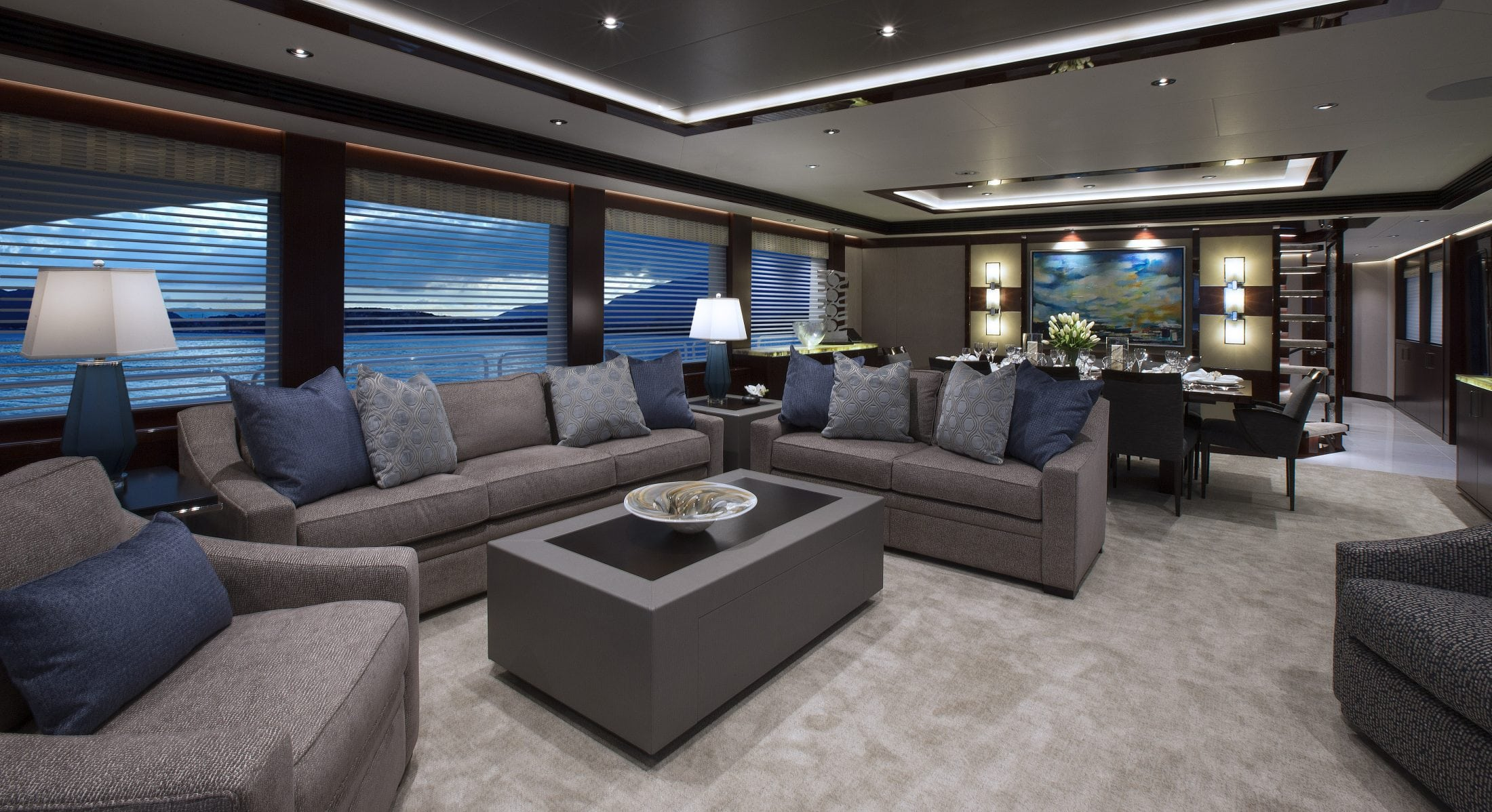 Main Salon for Westport Eccentric Yacht