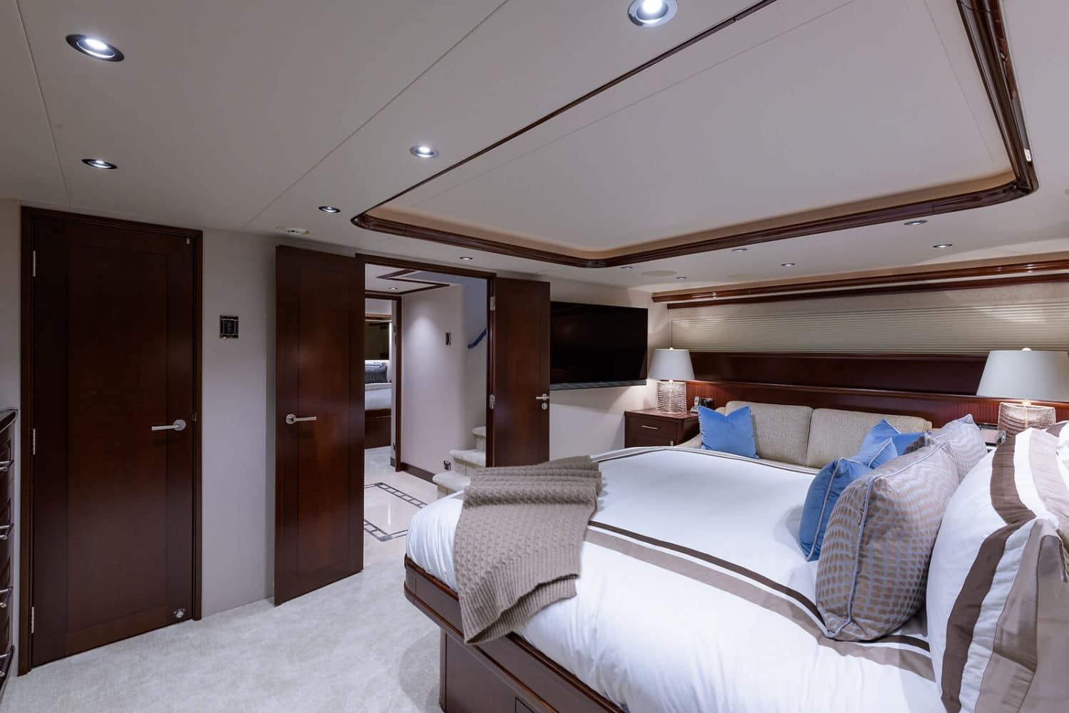 112' Westport Bluewater Cat Master Stateroom