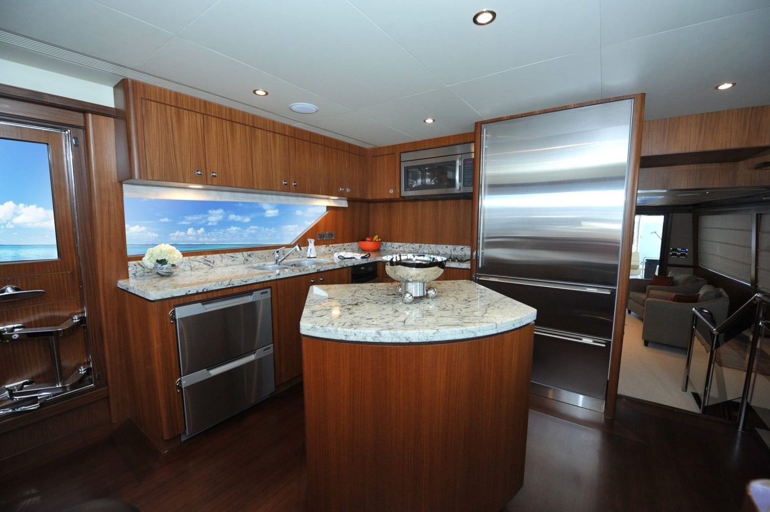72' Ocean Alexander Steelaway Galley