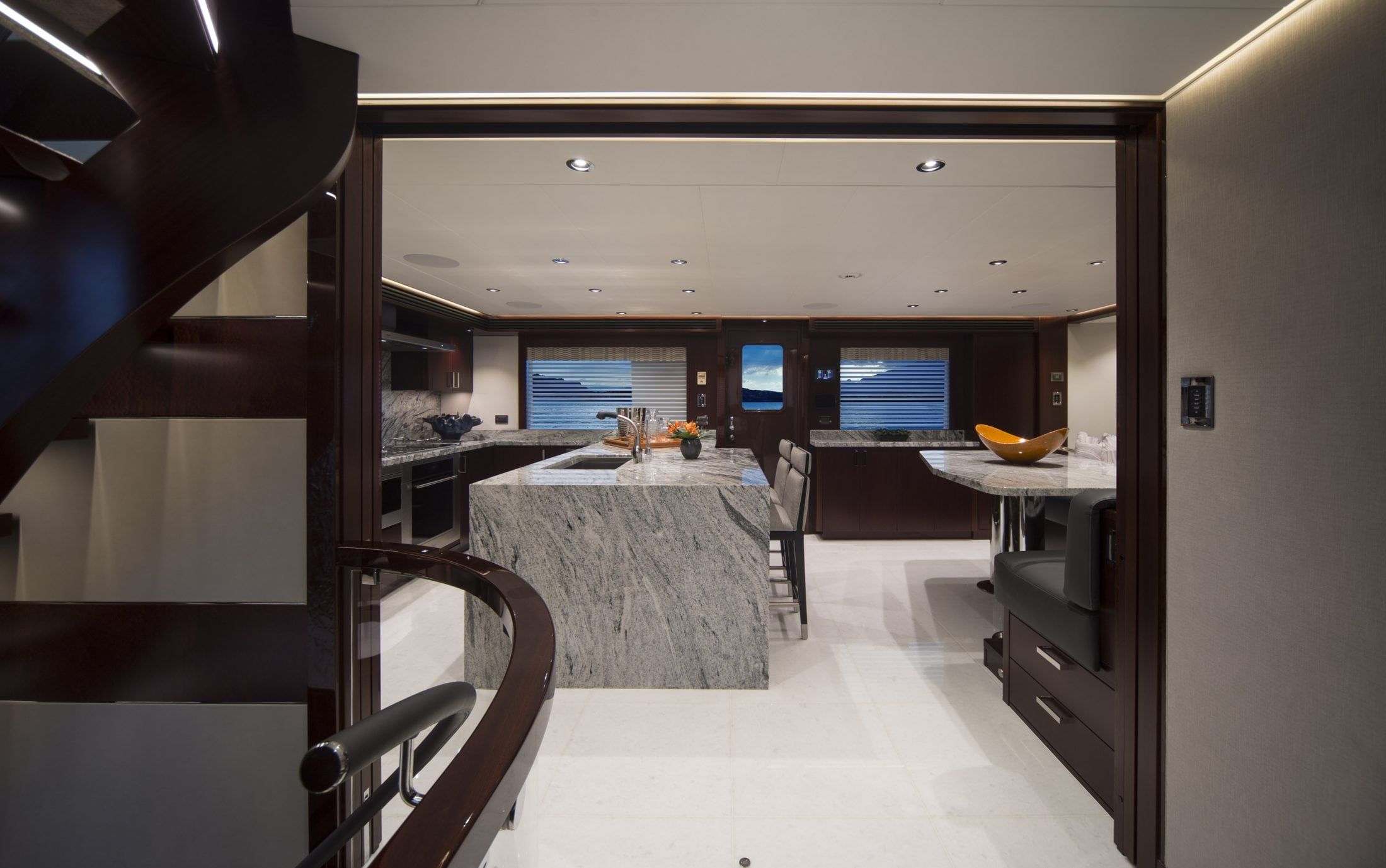 125' (38M) Westport Eccentric Galley Entry