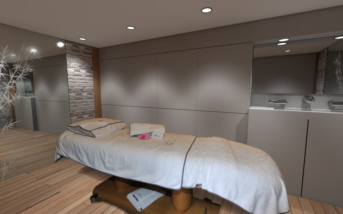 180' Amels 4 You Renderings Spa Room 1
