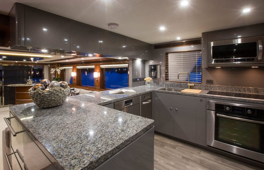 yacht interiors - galley