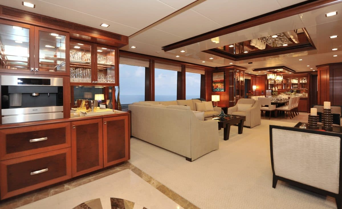 Yacht Interior Design Nordhavn 120 Aurora Main Salon