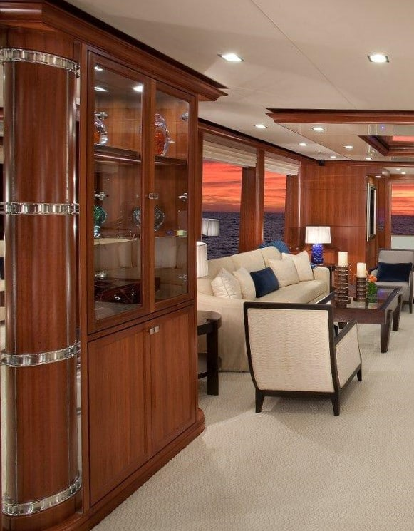 Yacht Interior Design Nordhavn 120 Aurora Main Salon Design Details