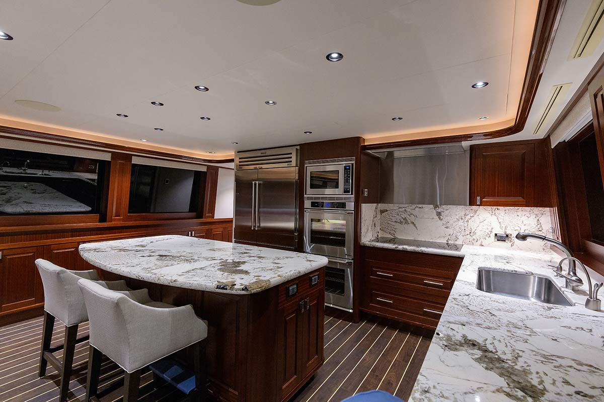 112' Westport Yacht Bluewater Cat Galley