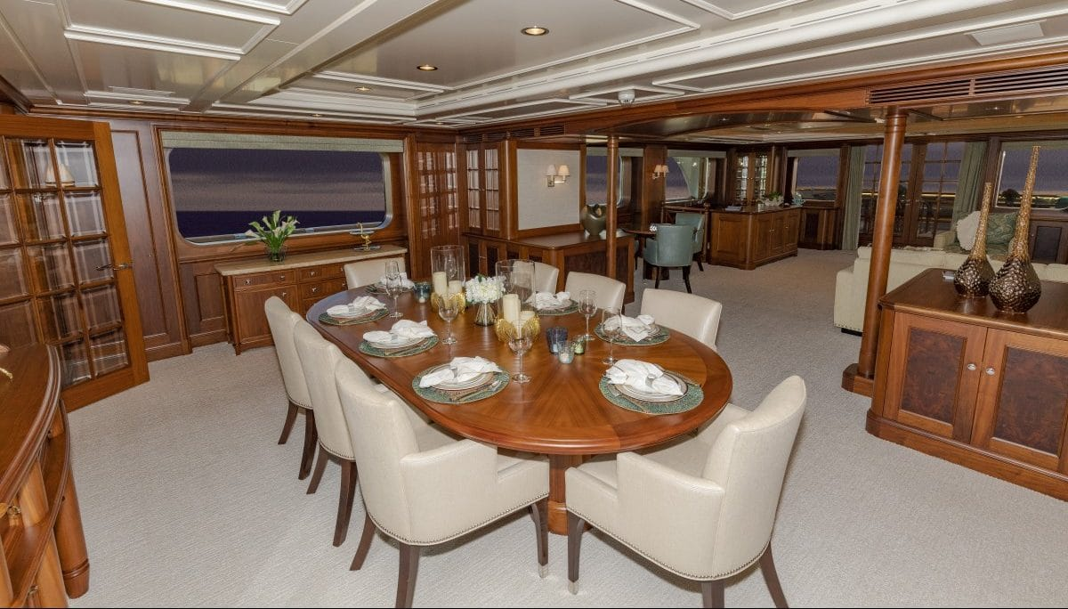 Dining on a Yacht
