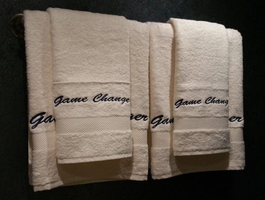Charter Yacht amenities - Embroidered Towels