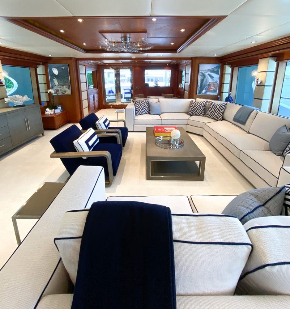 161' trinity yacht stay salty main salon