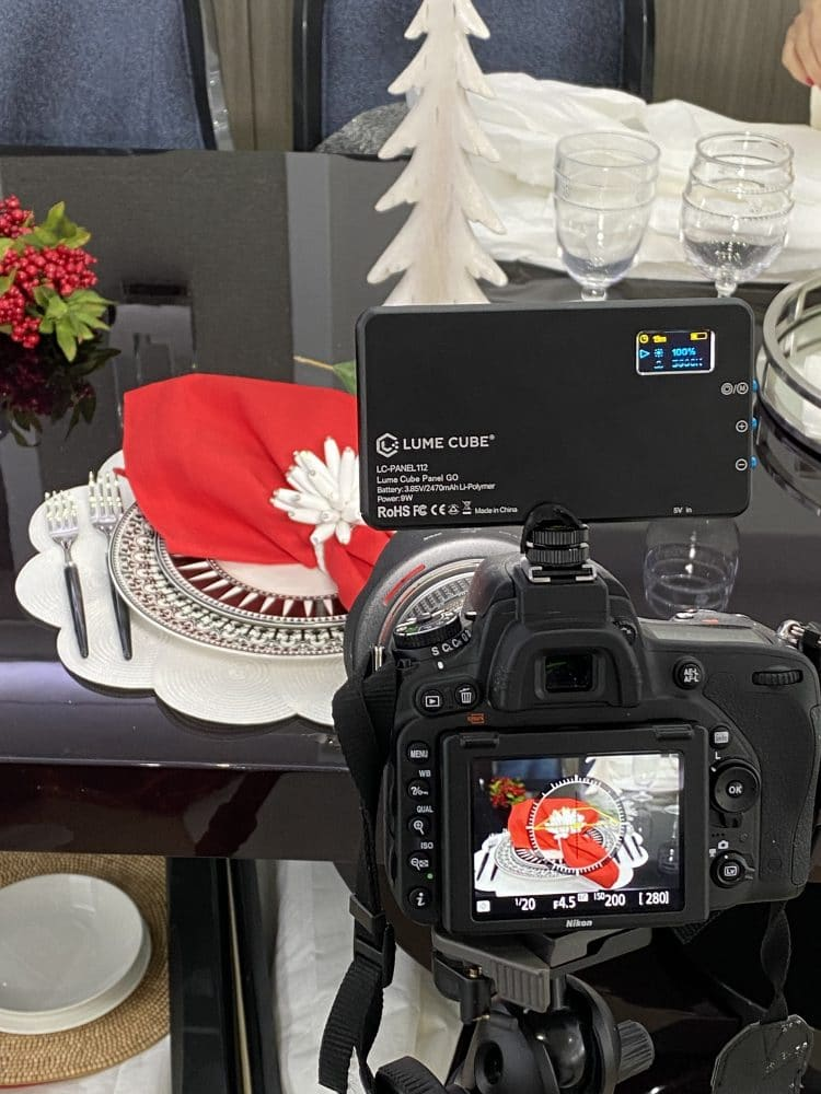 holiday yacht table settings photo shoot