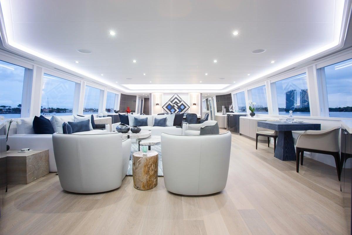 112′ Westport Yacht Hannah Main Salon