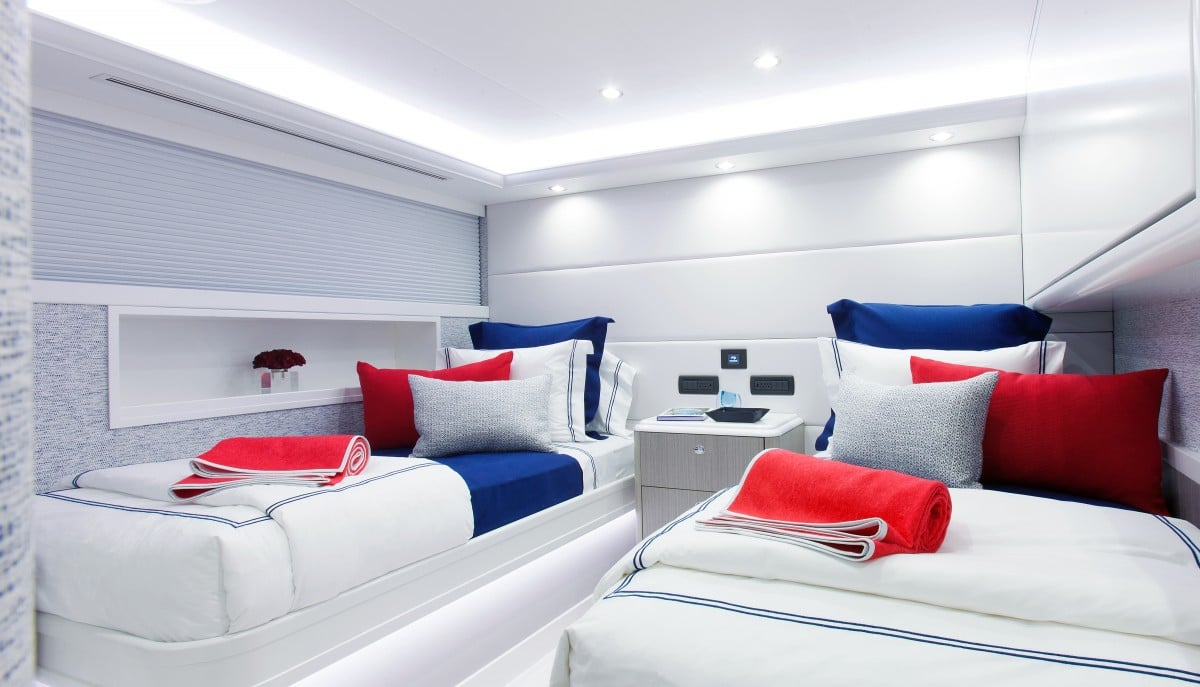 112′ Westport Yacht Hannah Twin Guest Stateroom