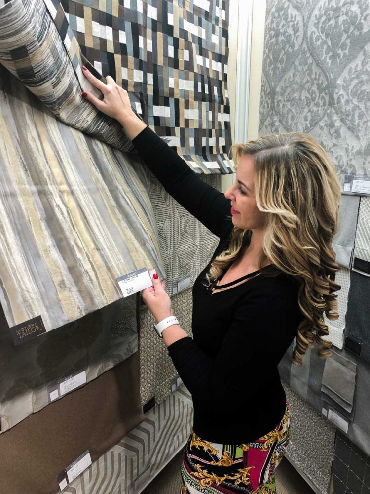 Destry Picking Out Fabrics