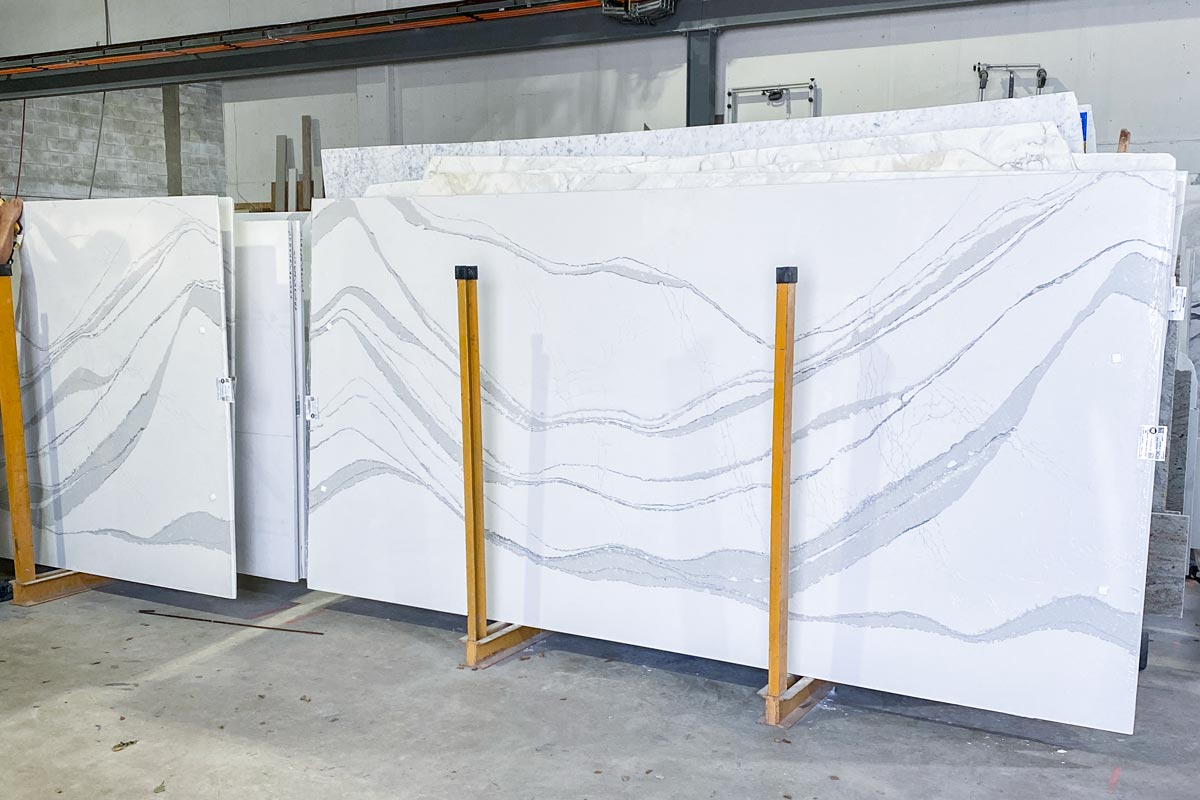 Marble Slabs in Warehouse